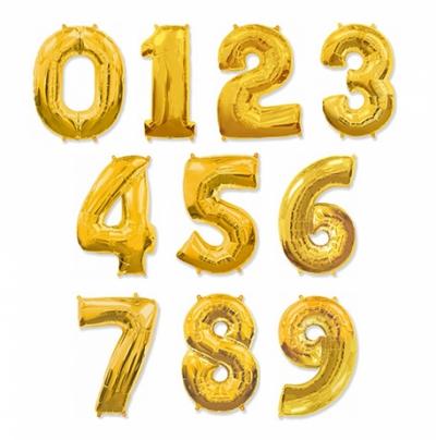 Блестящие праздничные цифры - золото