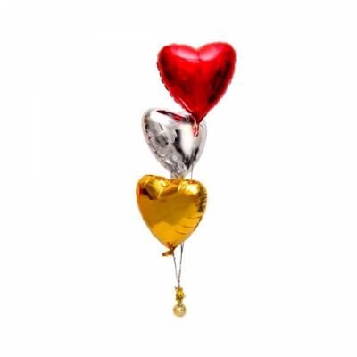 Фонтан из фольгированных шаров Сердце