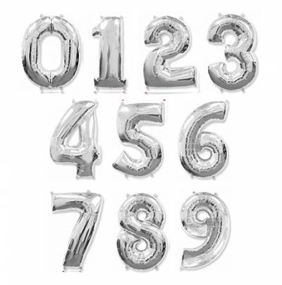 Серебрянные шары цифры