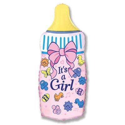 Шарик бутылочка розового цвета