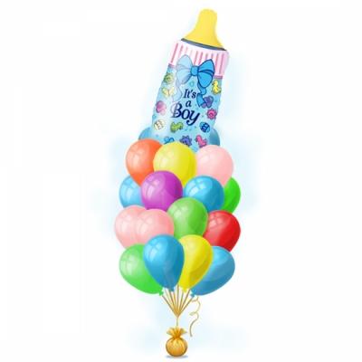 Набор воздушных шаров на выписку мальчика - Голубая бутылочка