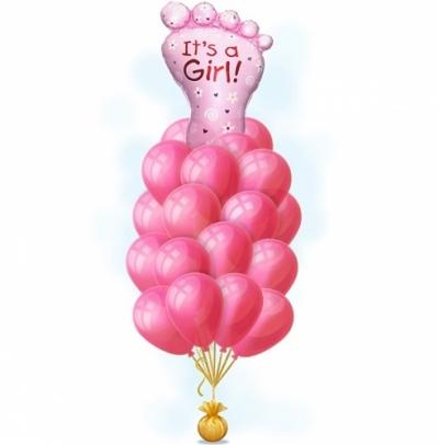 Набор из шаров на выписку для рождения маленькой принцессы