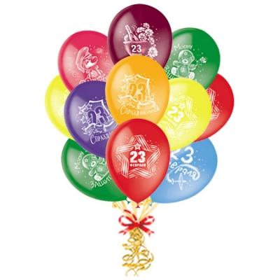 Связка шаров «23 Февраля» с надписями