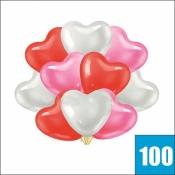 100 шариков сердце