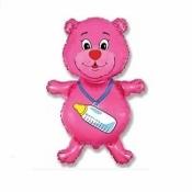 Медвежонок–девочка розовый 91 см