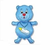 Медвежонок–мальчик синий 91 см
