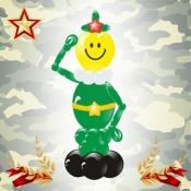 Фигура из шаров «Пограничник»
