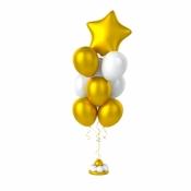 Фонтан с фольгированным шариком Звёздочка
