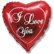 Фольгированное сердце Я Люблю Тебя в ассортименте