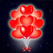 Красные светящиеся сердца