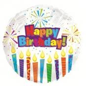 Круглый шар Happy Birthday