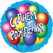Круглый шар С Днем Рождения