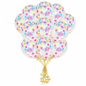 Прозрачные шары с конфетти