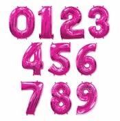 Розовые цифры из шаров