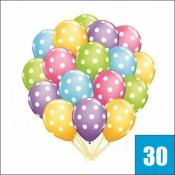 30 гелиевых шариков в горошек