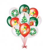 Новогодние игрушки - воздушные шары