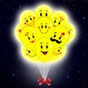 Светящиеся шарики со смайлами