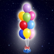 Светящийся фонтан из шаров