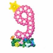 Цифра 9 из шариков