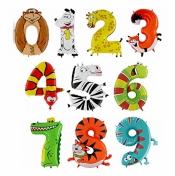 Детские цифры в виде животных