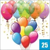 25 шаров с гелием
