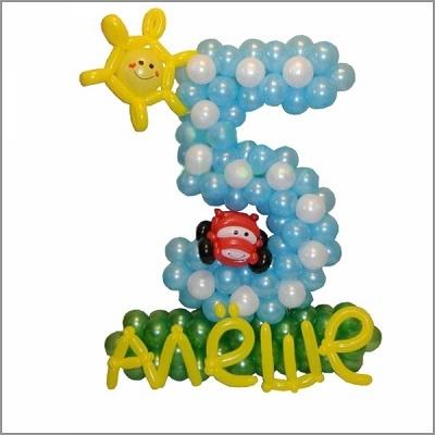 Цифра 5 из воздушных шариков I 5 из шаров на юбилей