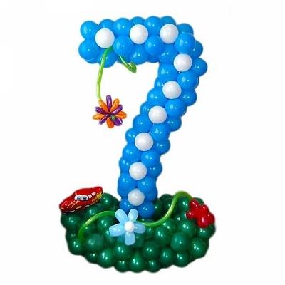 Цифра 7 из шариков на день рождения