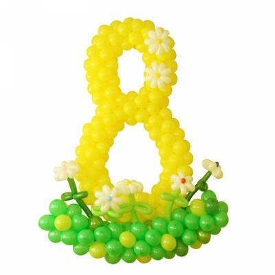 Цифра 8 из воздушных шаров