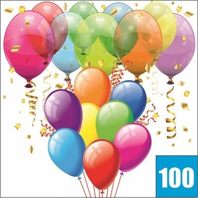 100 воздушных шаров с гелием