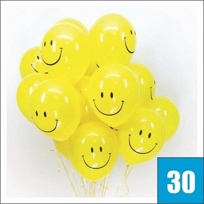 Купить воздушные шарики смайлики с гелием